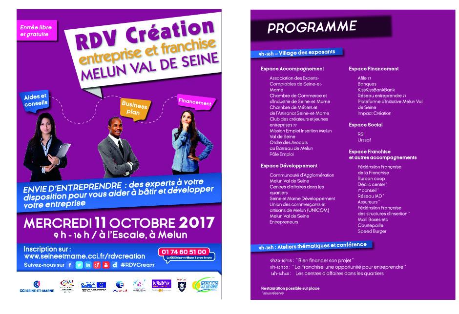 Rdv Cration Entreprise Et Franchise Melun Val De Seine  Agenda